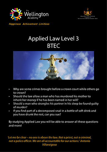 Applied Law Course Leaflet