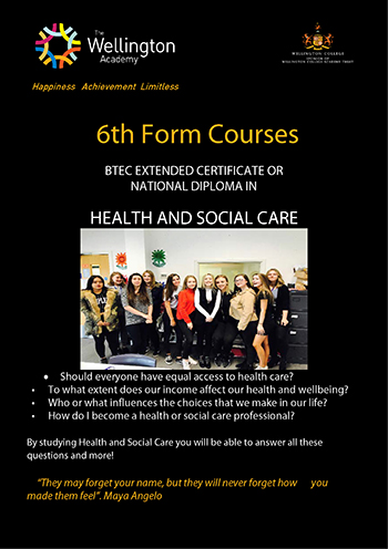 Health and Social Care Course Leaflet