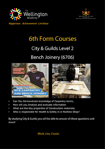 Bench Joinery Course Leaflet
