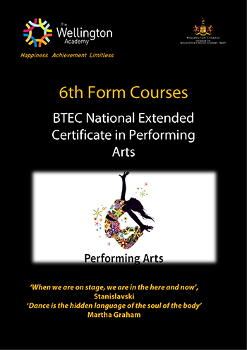 Performing Arts Course Leaflet